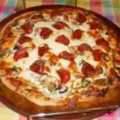 Homemade Veggie Ranch Pizza