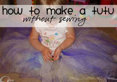 how to make a tutu without sewing