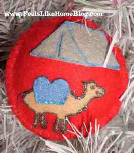 Abraham - Ten & Camel ornament