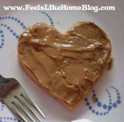 My pancake mix batter filled my heart-shaped cookie cutter 5 times ...