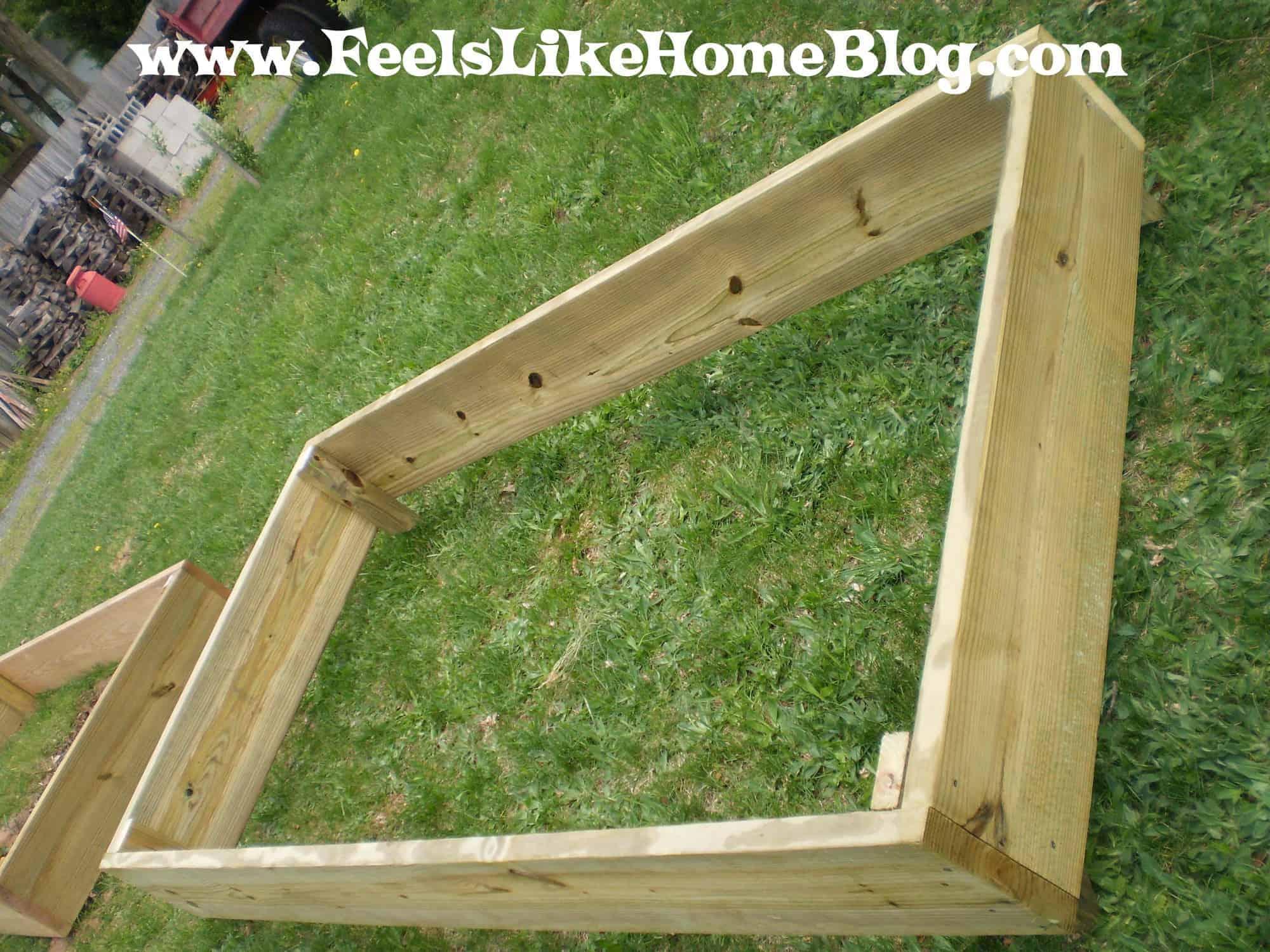 How to build a raised garden bed for Garden construction