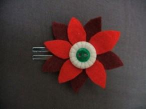handmade felt flower