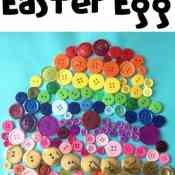 Rainbow Button Craft – An Easter Egg Craft