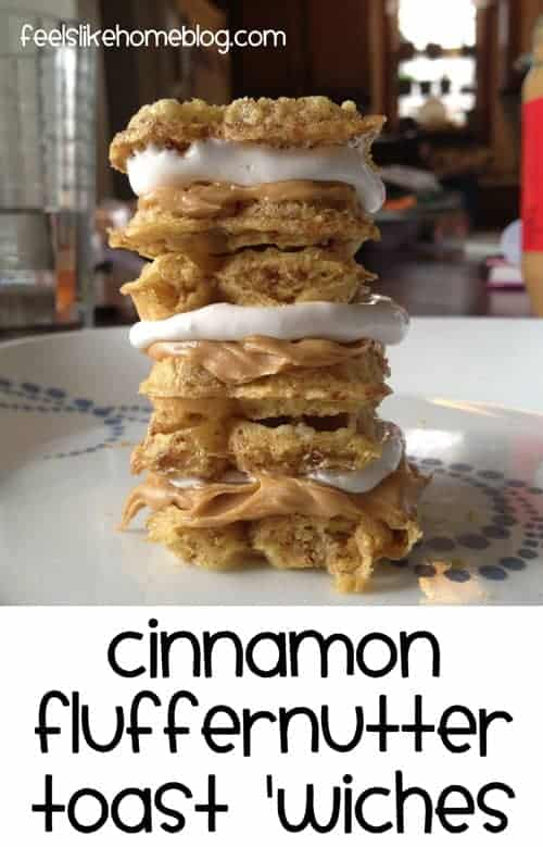 Cinnamon Fluffernutter Sandwiches