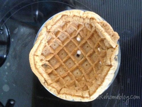 How to Make a Waffle Bowl from a Frozen Waffle