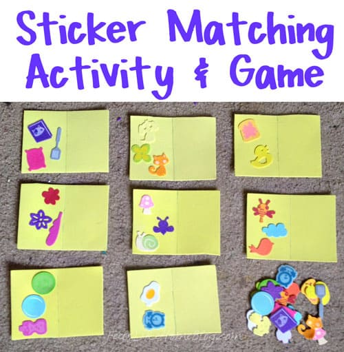 Sticker Matching Activity & Game for Preschoolers