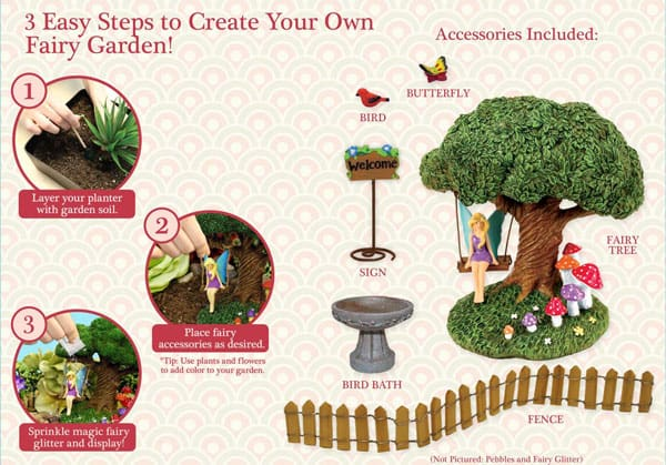 Wal-Mart Fairy Garden Kit