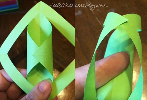 Use glue dots to roll the small points toward the inside and the bigger ones to the outside.