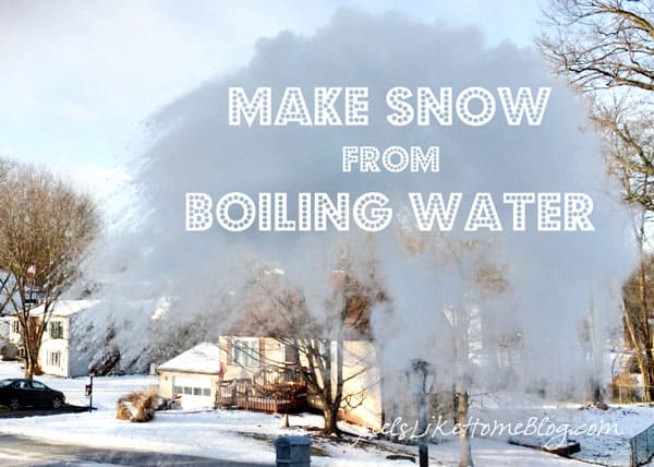How to Make a Snow Cloud from Boiling Water