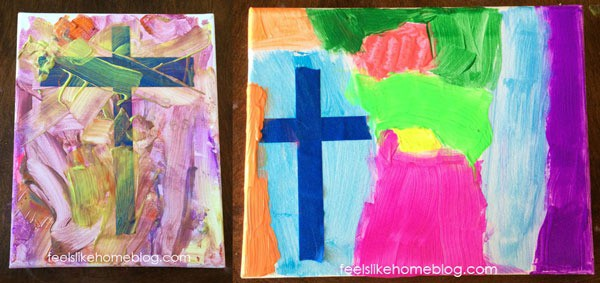 Cross resist painting - Finished paintings