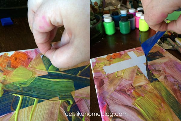 Cross resist painting - Removing the painter's tape