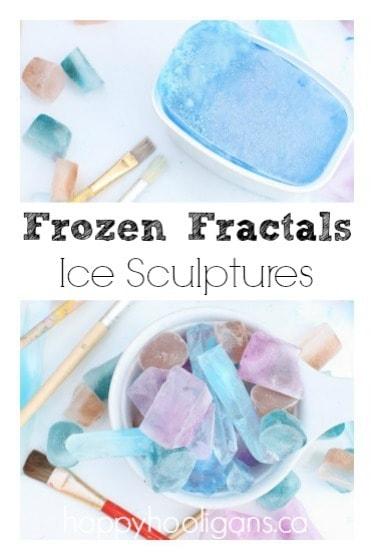 Frozen Fractals ice sculptures