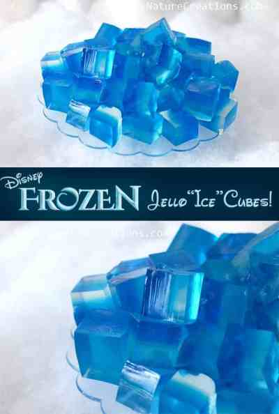Frozen jello ice cubes