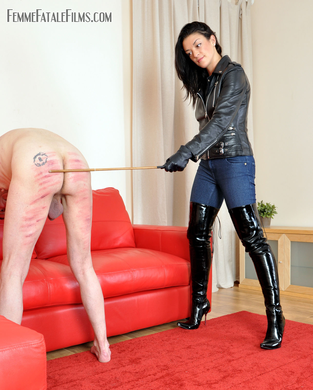fetish ladies leather boots