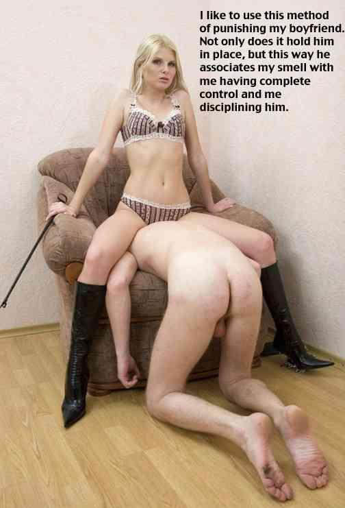 femdom wives spanking husband captions