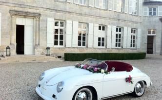 accessoire de décoration pour la voiture d'une mariée