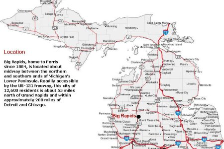 Michigan Highways Maps US Constantine Bypass Interstate - Us 131 map