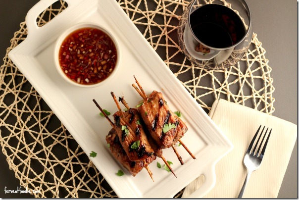 Asian pork skewers