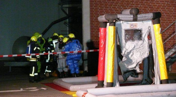 Feuerwehr probt den Ernstfall bei Schlachterei in Lohne