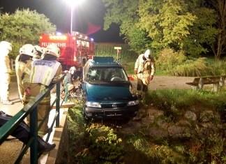 Technische Übung -Übungsszenario Verkehrsunfall, Foto: FF Mieming