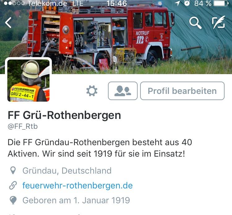 FF Rothenbergen jetzt auch bei Twitter