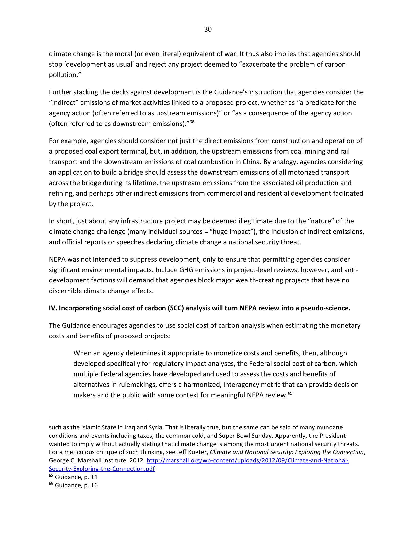 Marlo Lewis Competitive Enterprise Institute and Free Market Allies Comment Letter on NEPA GHG Guidance Document 102-30