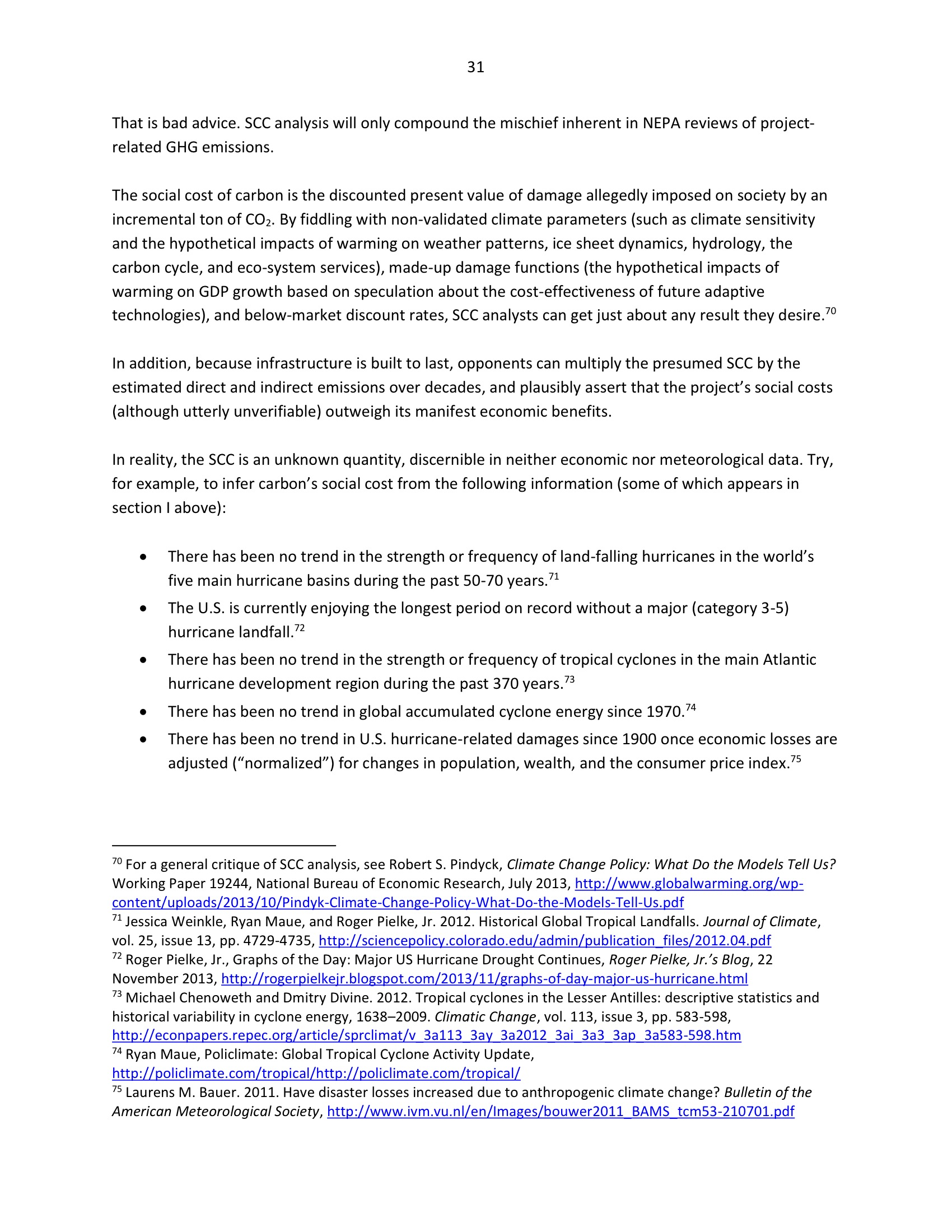 Marlo Lewis Competitive Enterprise Institute and Free Market Allies Comment Letter on NEPA GHG Guidance Document 103-31