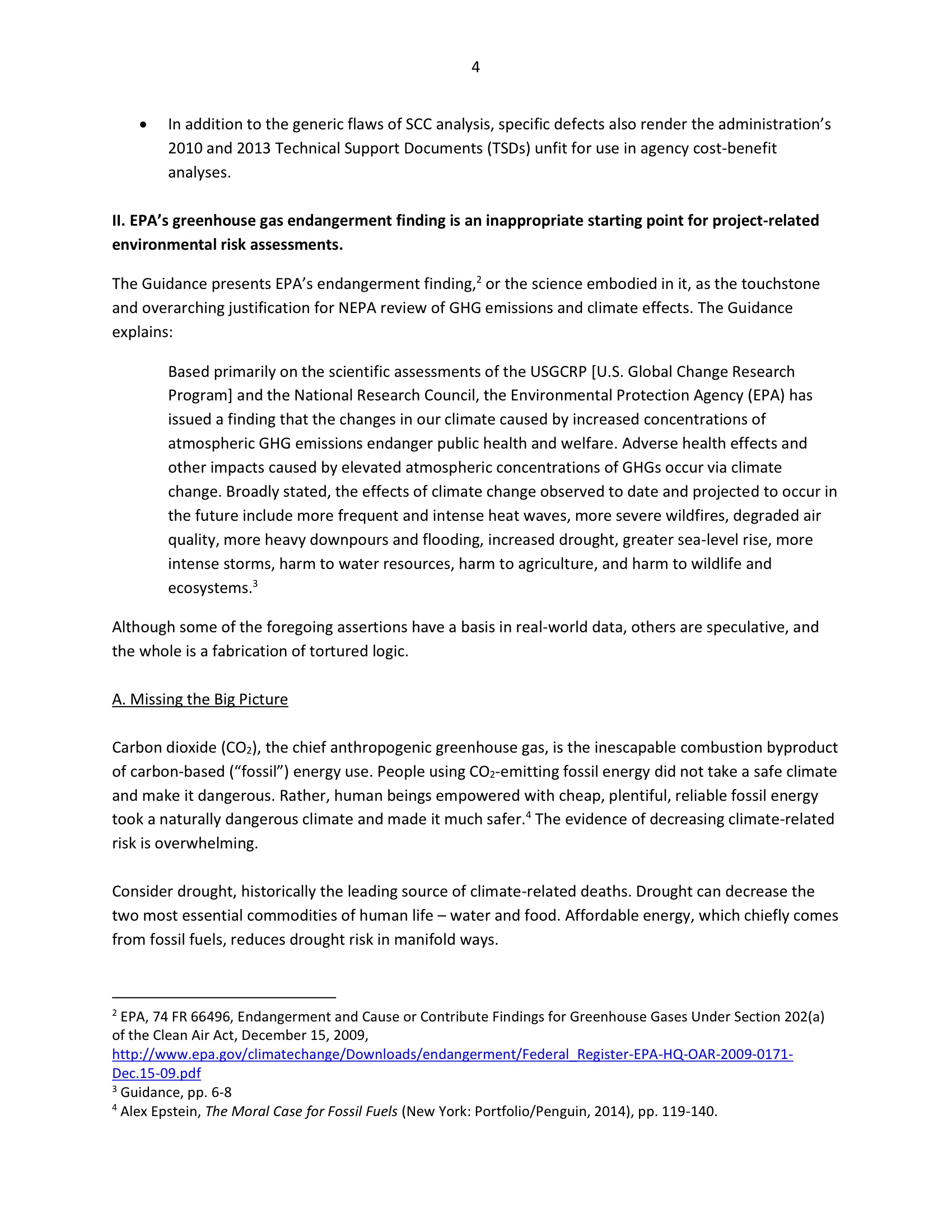 Marlo Lewis Competitive Enterprise Institute and Free Market Allies Comment Letter on NEPA GHG Guidance Document 76-4