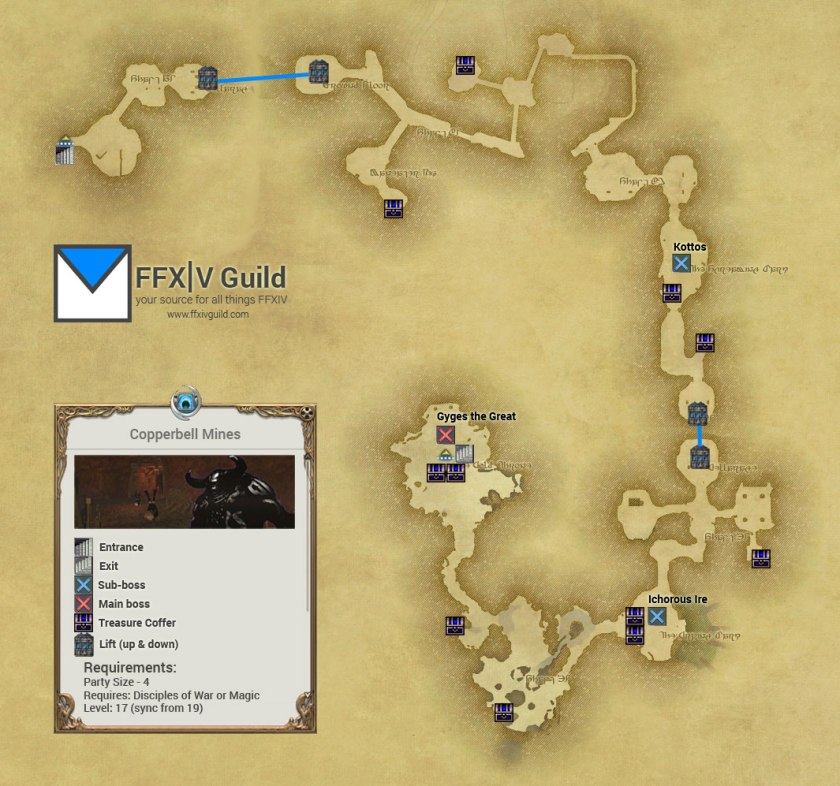 FFXIV-ARR-Copperbell-Mines-Map