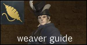 weaver guide ffxiv arr crafting