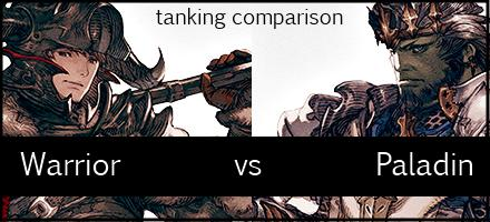 a realm reborn paladin v warrior tanking comparison