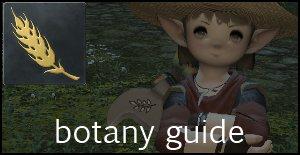 botany guide ffxiv arr gathering