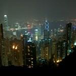 Vue sur Hong Kong et Kowloon du haut de Victoria Peak