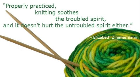 Knitting quote, Fiberartsy.com