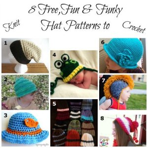8 Free, Fun & Funky Hat Patterns for Knit and Crochet