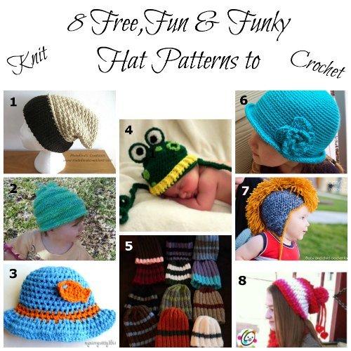 8 Free Hat Patterns for Knit and Crochet, Fiberartsy.com