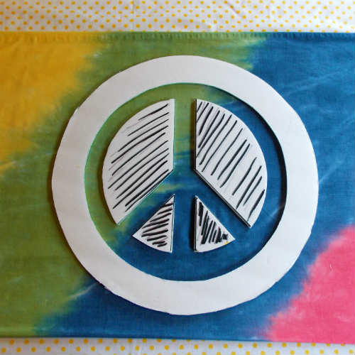 Hippie Bed Sheets with Peace Sign, Fiberartsy.com