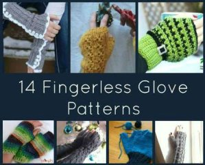 14 Free Fingerless Glove Patterns