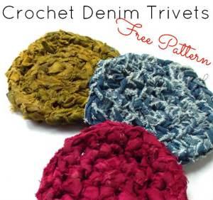 How to Crochet Denim Trivets – Free Pattern