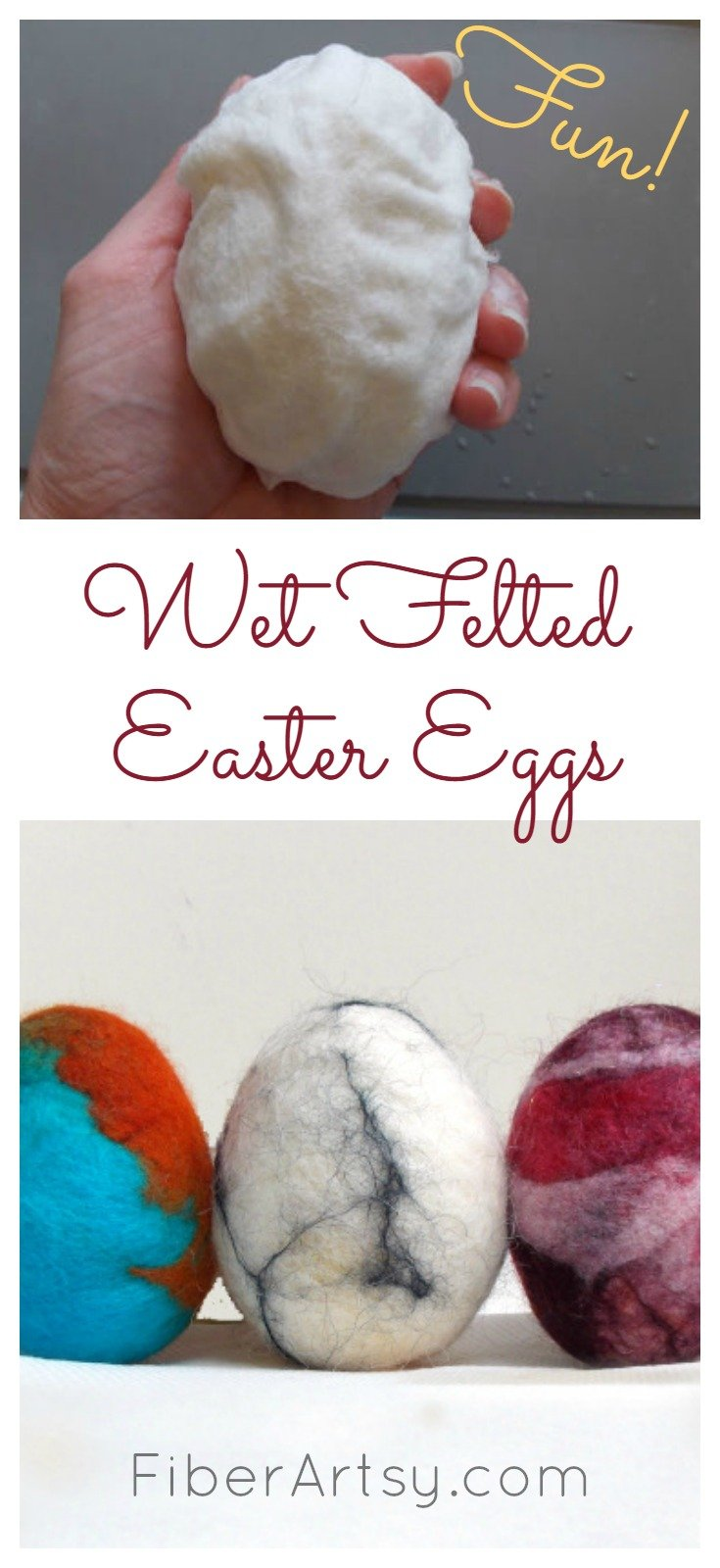 How to Felt Easter Eggs, FiberArtsy.com