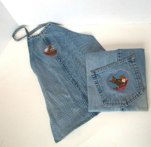 Recycled jeans 12 denim craft projects for Denim craft projects