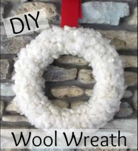 DIY Wool Christmas Wreath