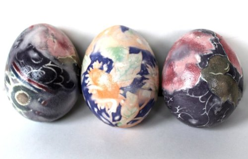 How to Dye Easter Eggs with Silk Ties, a FiberArtsy.com tutorial