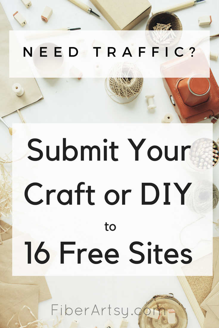16 Free Websites to Submit Your Craft Project DIY Blog Post by FiberArtsy.com
