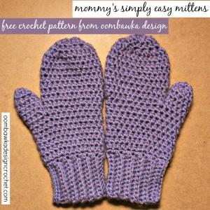 Simply Easy Crochet Mitten Pattern