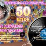 invitacion 50 años