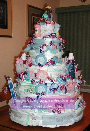 Decoracion de torta baby shower realmente original for Decoracion espejo en tortas