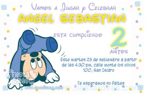 invitaciones de Mickey Mouse baby Disney