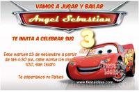 Invitaciones de Cars – El Rayo McQueen Gratis