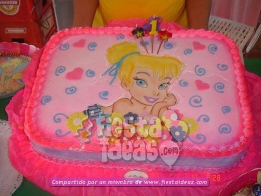 20 ideas para decoracion de tortas de Campanita - tinkerbell-005_min